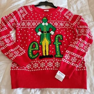 NWT Elf Christmas Ugly Sweater Woman's Large